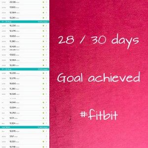 fitbit goal - 28 out of 30