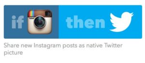 IFTTT Instagram recipe