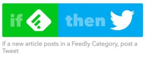 IFTTT Feedly to Twitter