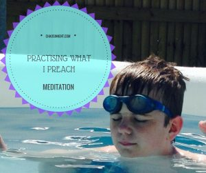 Meditation - Practising what I preach